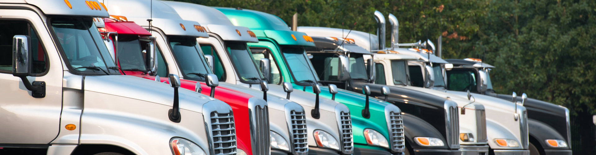 a row of freight trucks