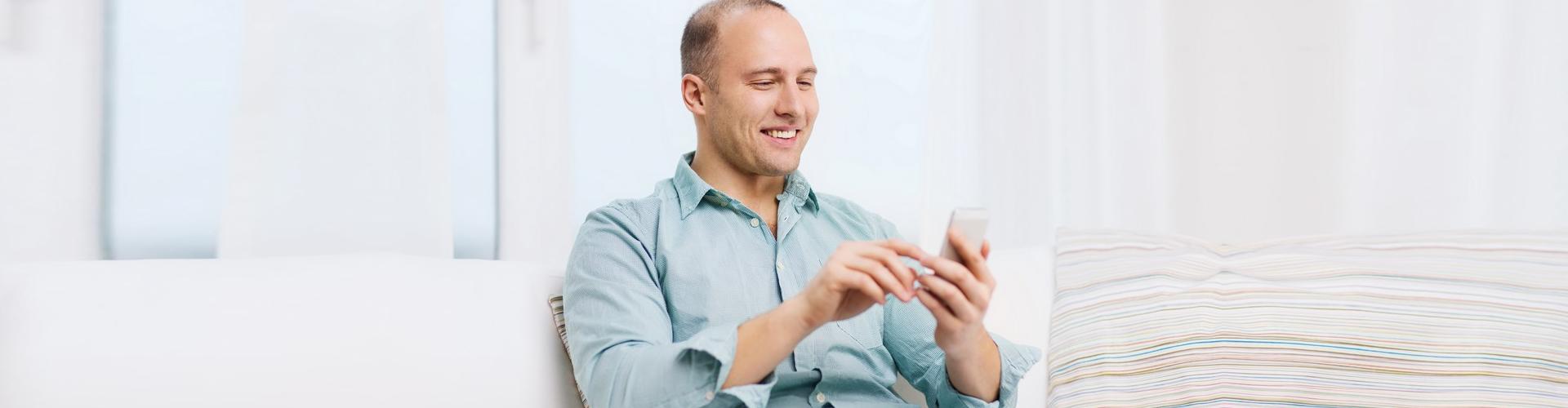 a man using his phone